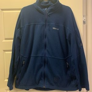 Marmot dark blue fleece jacket